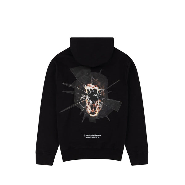 Criminal Damage HOODIE Bark Hood - Black