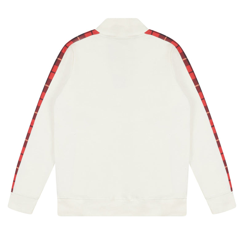 Criminal Damage HOODIE Check Globe Hood - White