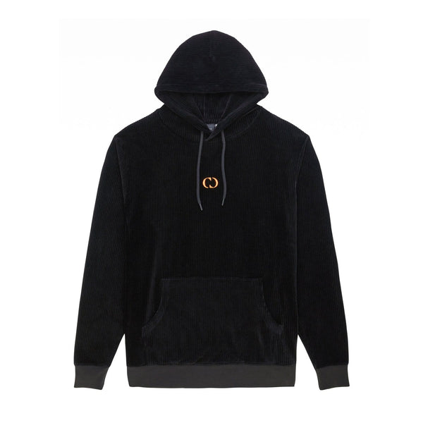Criminal Damage HOODIE Cord Hood - Black