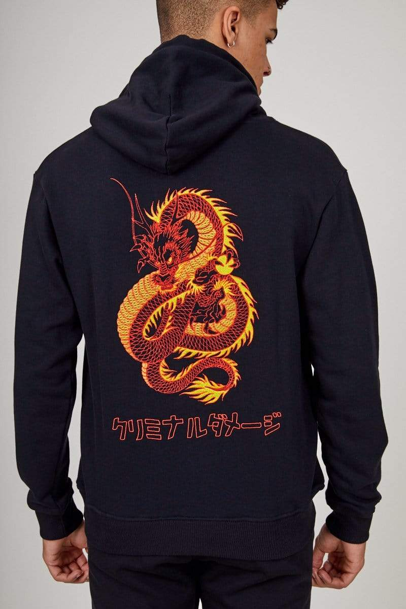 Criminal Damage HOODIE DRAGON HOOD