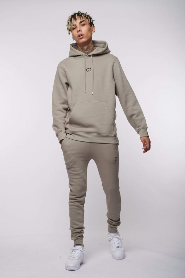 Criminal Damage HOODIE ECO PULLOVER HOOD - STONE