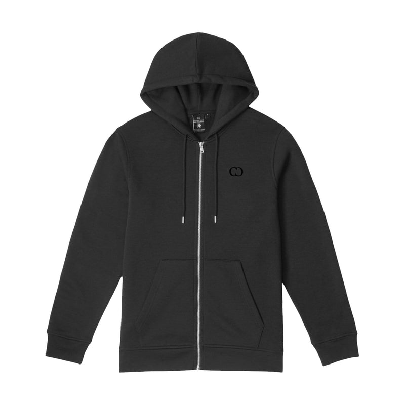 Criminal Damage HOODIE ECO ZIP HOOD - CHARCOAL