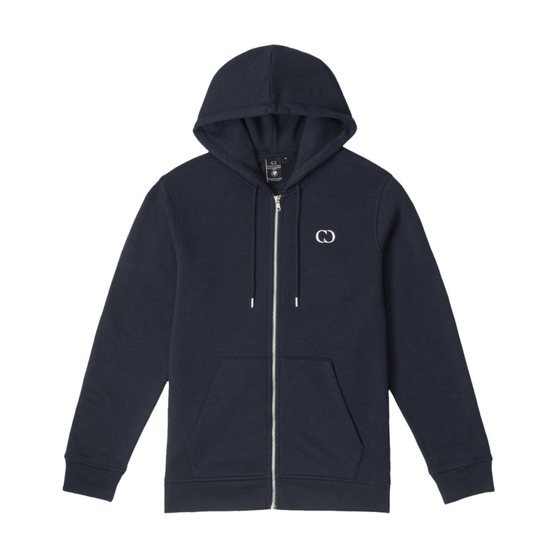 Criminal Damage HOODIE ECO ZIP HOOD - NAVY