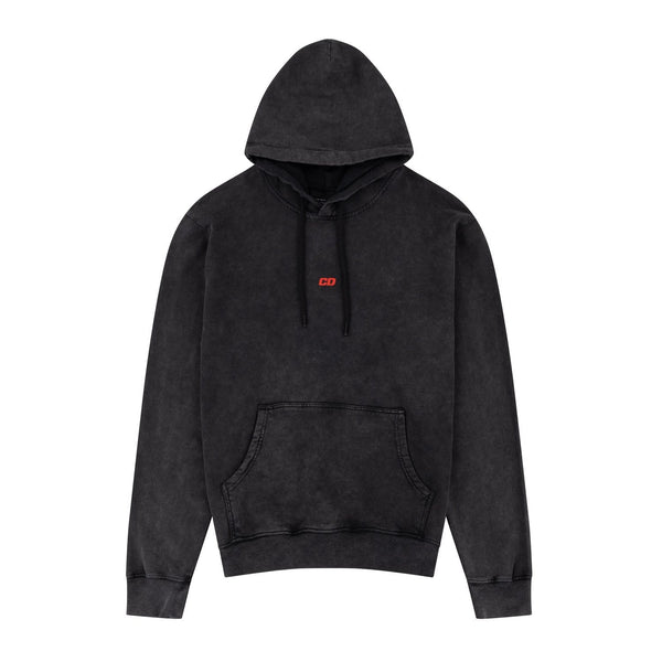 Criminal Damage HOODIE Futures Hood - Washed Black
