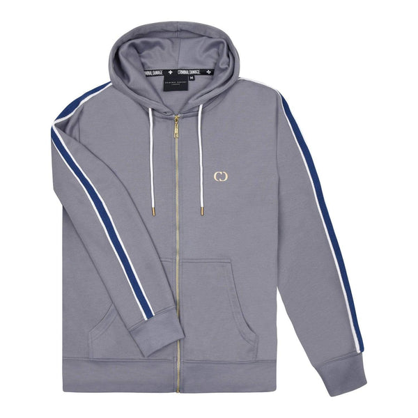 Criminal Damage HOODIE Grey / XS Wise Hood - Grey