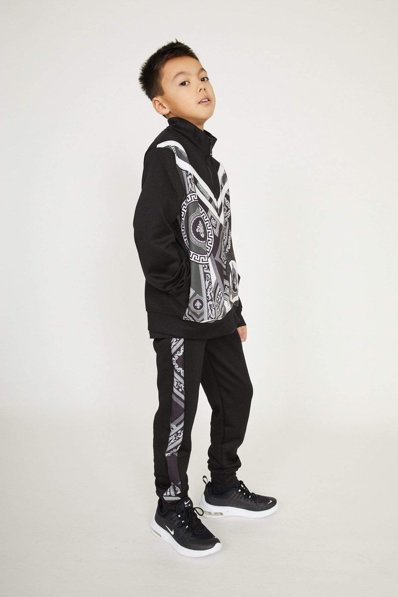 Criminal Damage HOODIE Kids Apollo Track Top - Black