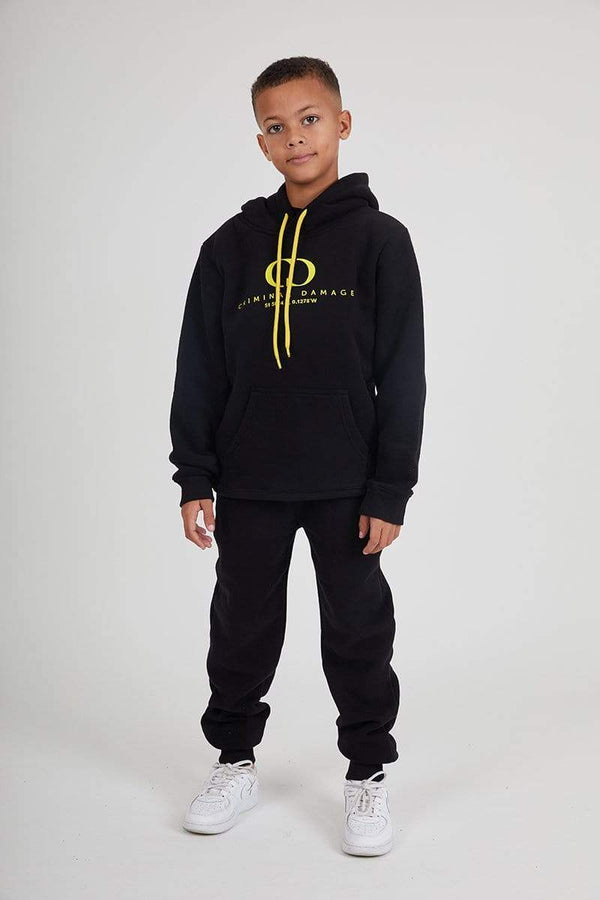 Kids Co-ordinate Hood- Black / Reflective Yellow