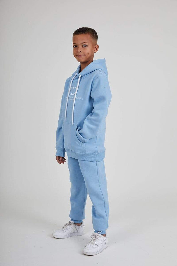 Kids Co-ordinate Hood- Blue / Reflective White