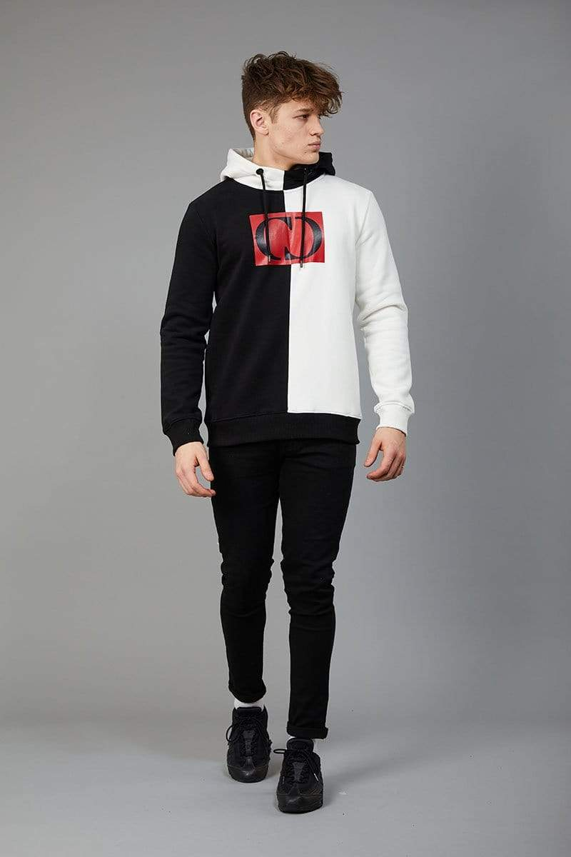 Criminal Damage HOODIE Kodak Hood - Black/White