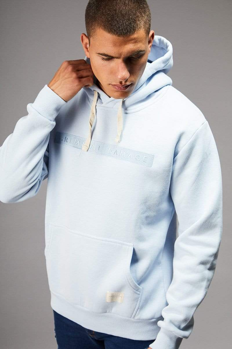 Criminal Damage HOODIE Light Blue / XS Hiber Hood - Light Blue