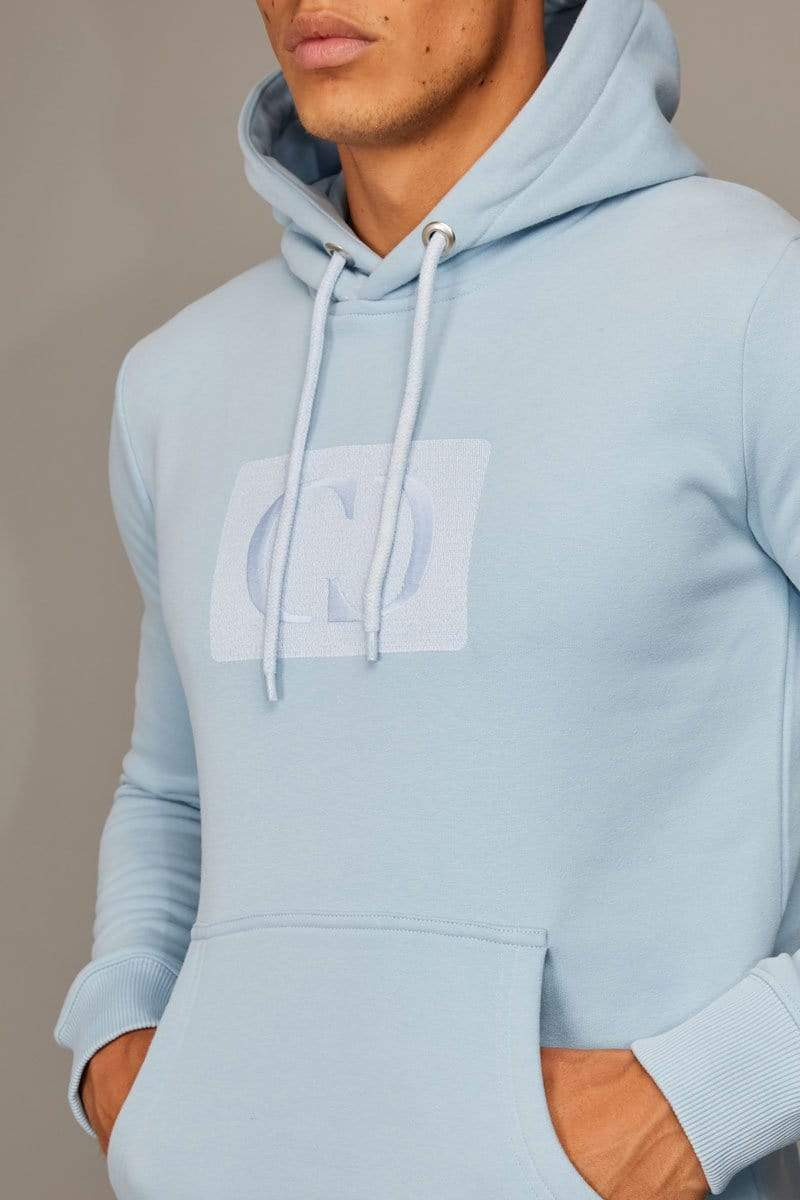 Criminal Damage HOODIE Light-blue / XS Muscle Core Pullover Hood