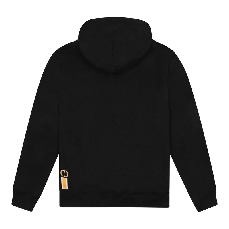Criminal Damage HOODIE Louvre Hood - Black/Yellow