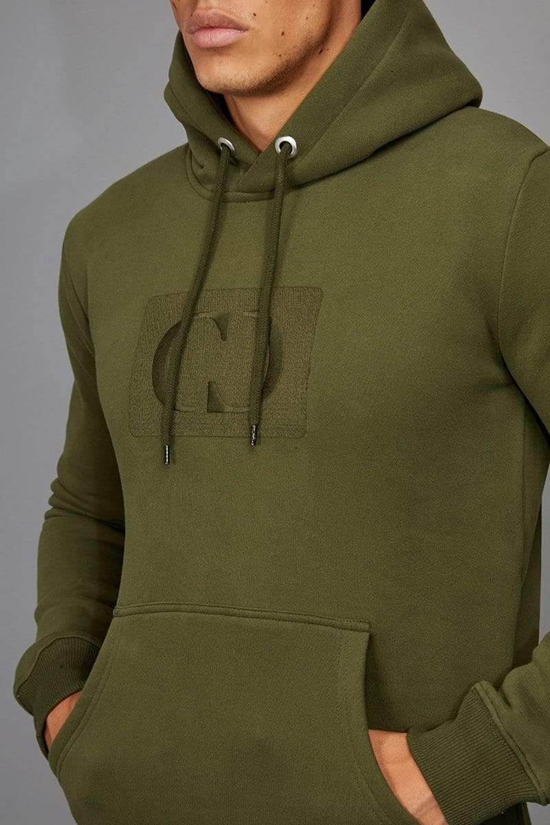 Criminal Damage HOODIE Olive / XS Muscle Core Pullover Hood
