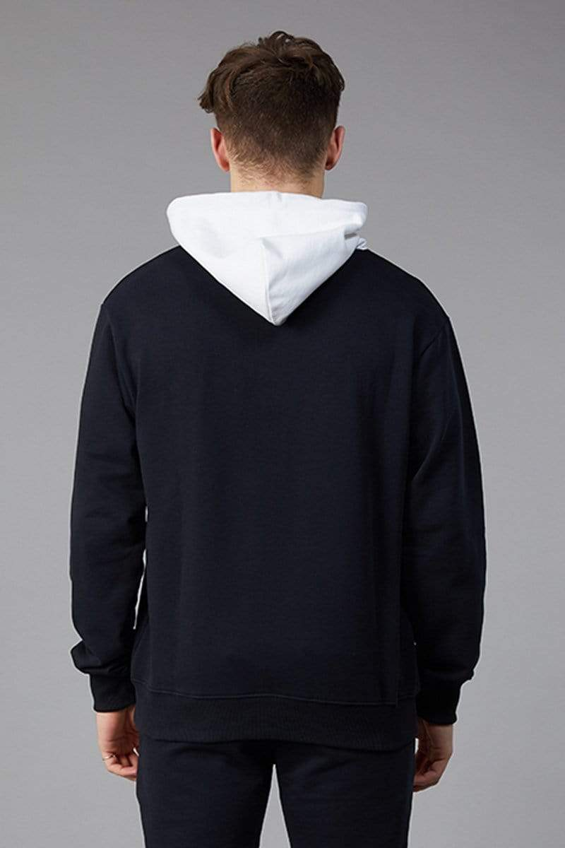 Criminal Damage HOODIE Shield Oversized Hood - Black/White