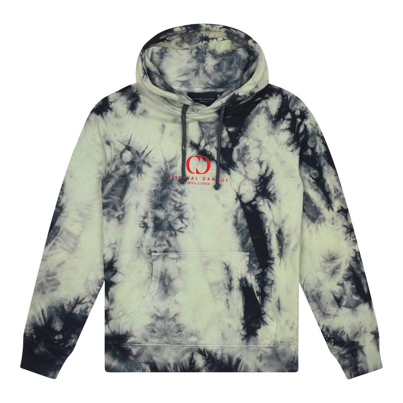 Criminal Damage HOODIE Splash Tie Dye Hood