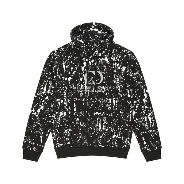 Criminal Damage HOODIE Splatter Hood- Black