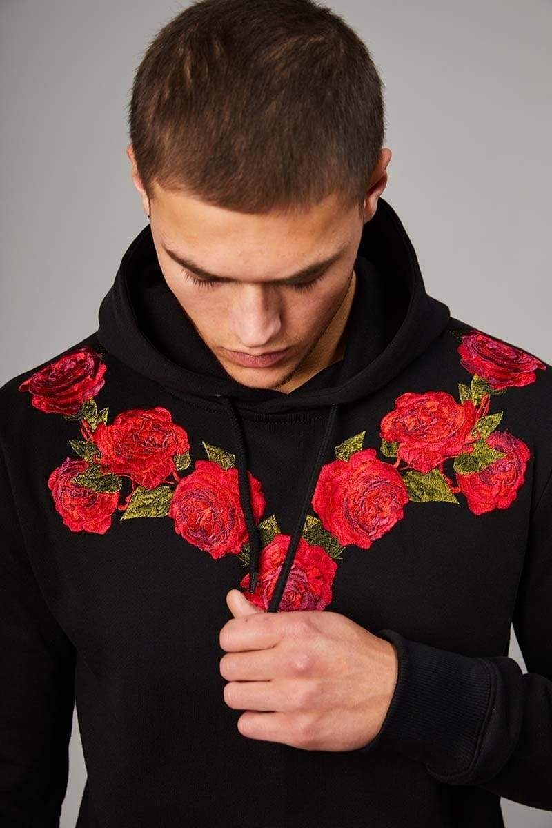 Criminal Damage HOODIE Thorn Hood - Black/Multi