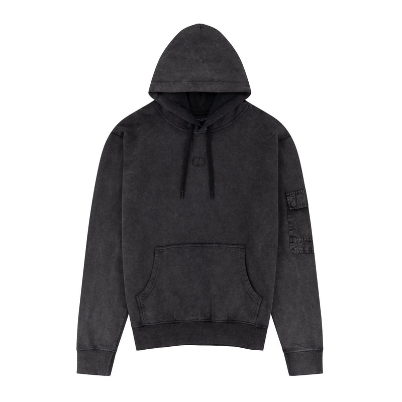 Criminal Damage HOODIE Utility Hood - Washed Blue