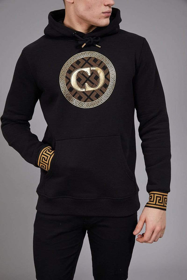 Criminal Damage HOODIE Verino Hood - Black/Gold