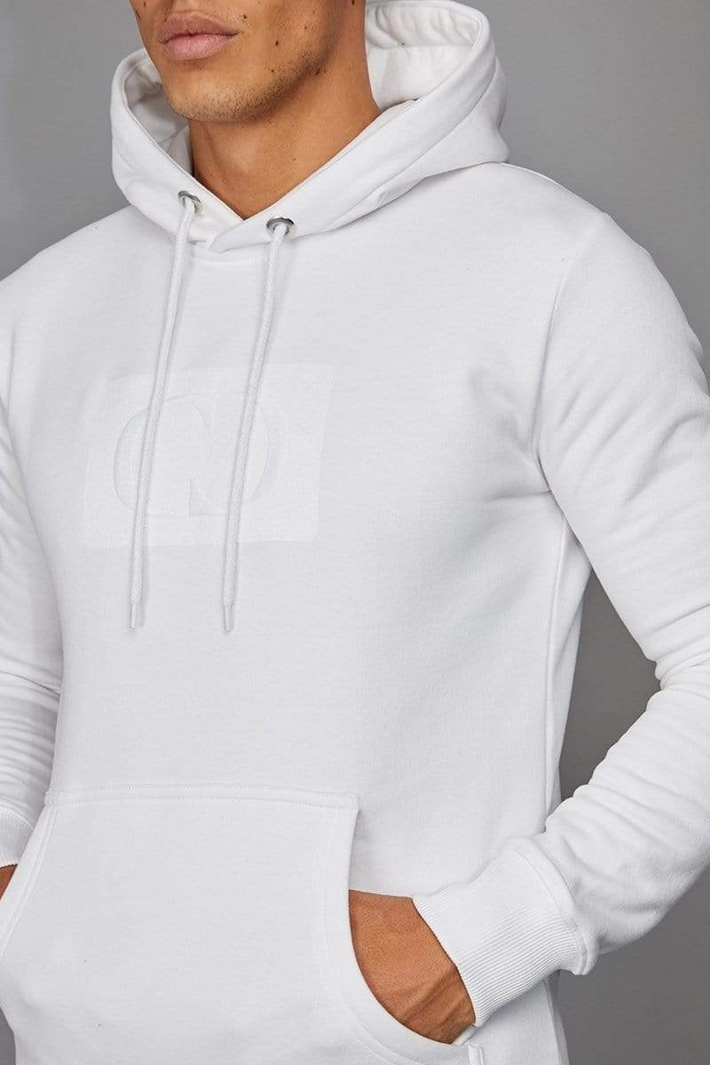 Criminal Damage HOODIE White / XS Muscle Core Pullover Hood