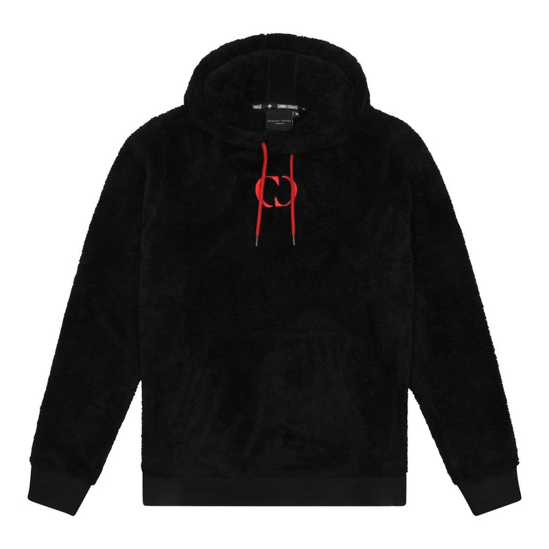 Criminal Damage HOODIE XS / Black Bear Fleece Hood - Black