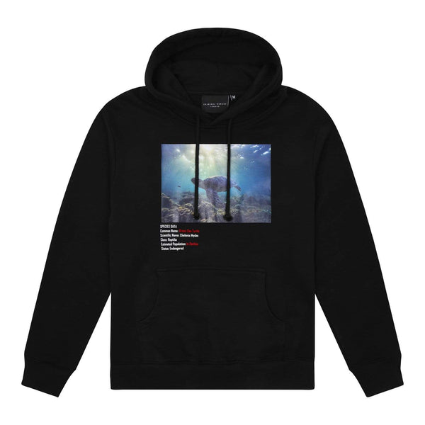 Criminal Damage HOODIE XS / Black Green Sea Turtle Hood