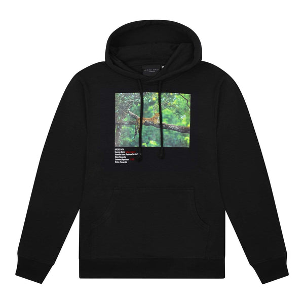 Criminal Damage HOODIE XS / Black Indian Leopard Hood