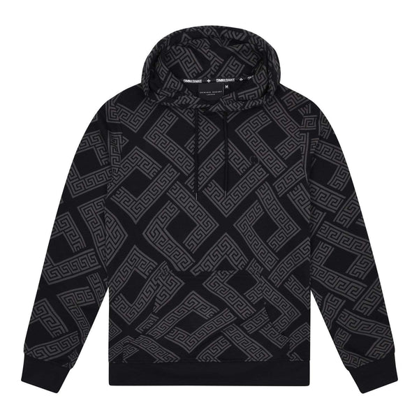 Criminal Damage HOODIE XS / Black Roman Hood - Black/Grey