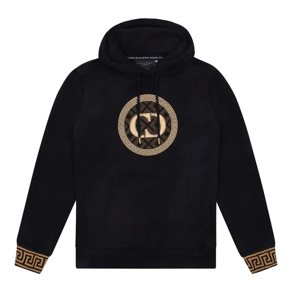 Criminal Damage HOODIE XS / Black Verino Hood - Black/Gold