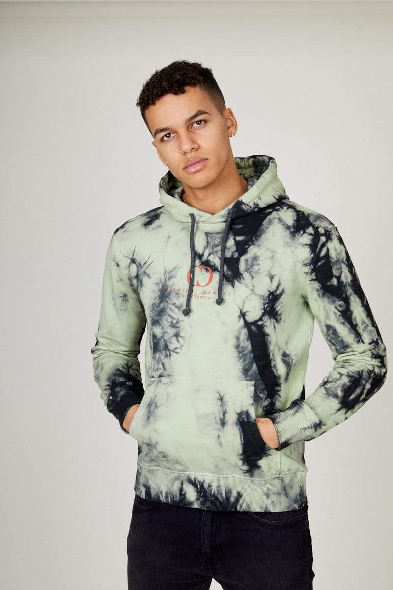 Criminal Damage HOODIE XS / yellow Splash Tie Dye Hood
