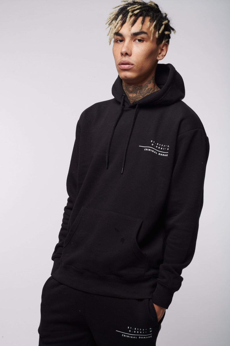 Criminal Damage HOODIES CAMDEN HOODIE BLACK