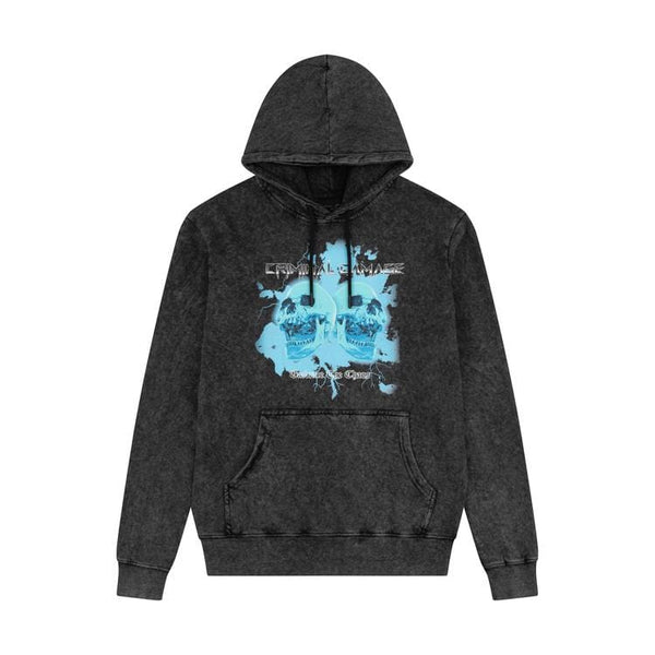Criminal Damage HOODIES CHAOS HOOD- BLACK WASH