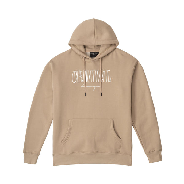 Criminal Damage HOODIES CRAFT HOODIE SAND