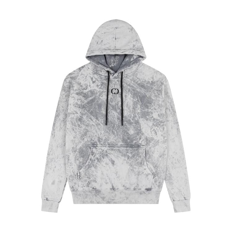 Criminal Damage HOODIES HYBRID HOOD - GREY WASH