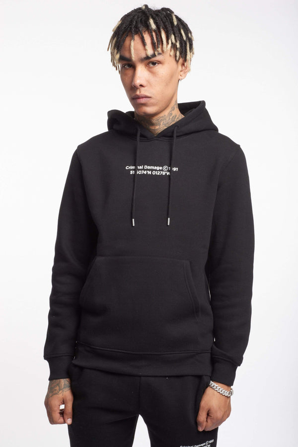 Criminal Damage HOODIES LA HOODIE - BLACK