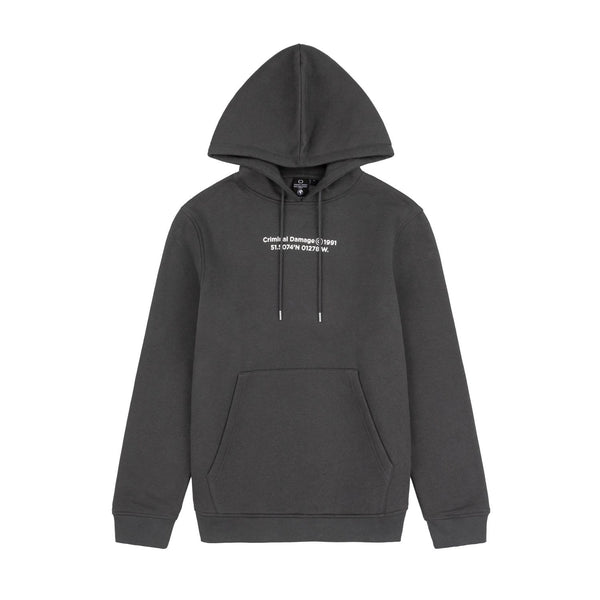 Criminal Damage HOODIES LA HOODIE - CHARCOAL
