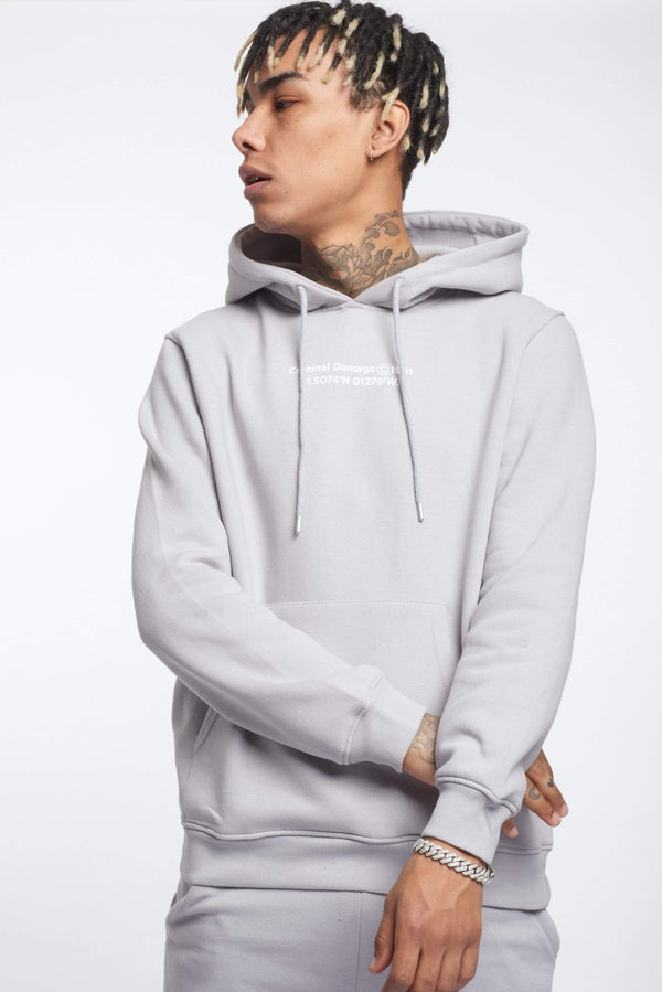 Criminal Damage HOODIES LA HOODIE - LIGHT GREY
