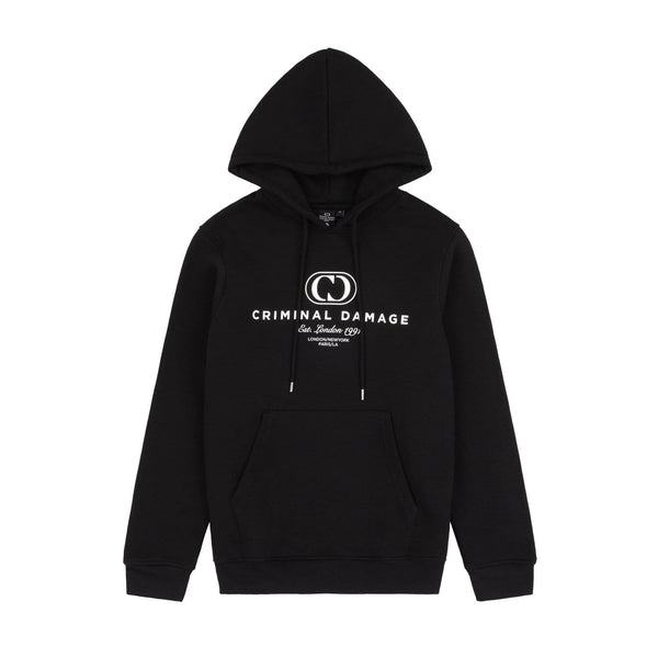 Criminal Damage HOODIES NY HOODIE - BLACK