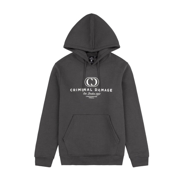 Criminal Damage HOODIES NY HOODIE - CHARCOAL