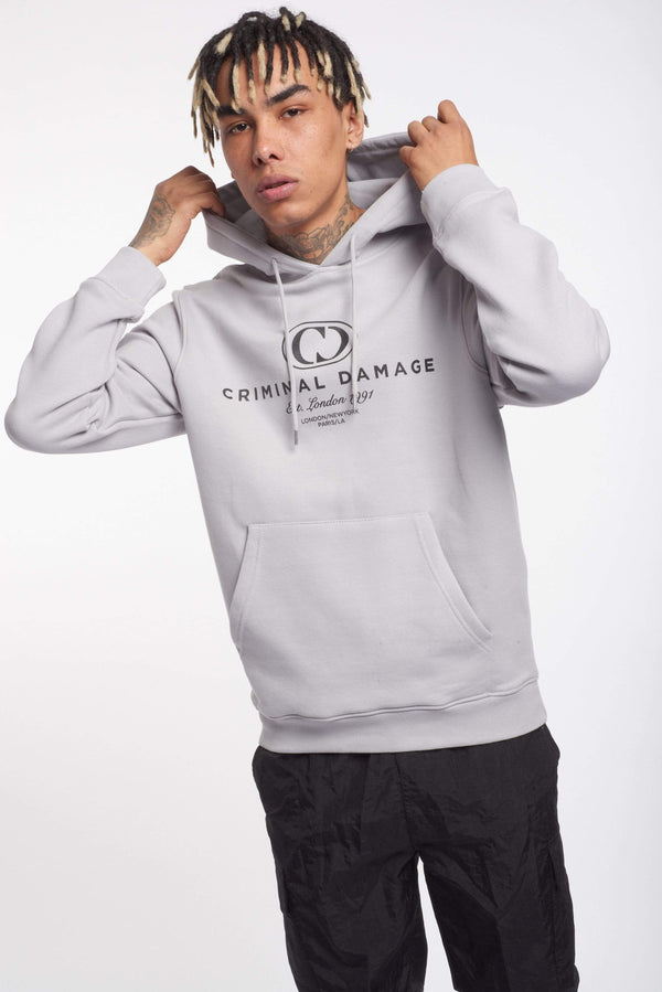 Criminal Damage HOODIES NY HOODIE - LIGHT GREY