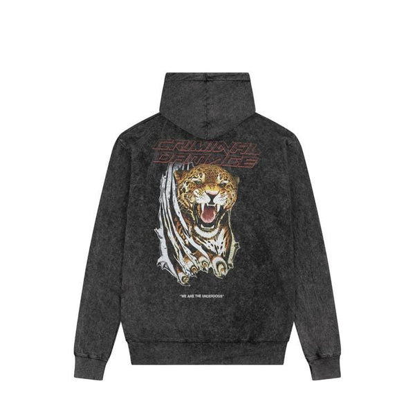 UNDERDOGS HOOD- BLACK WASH