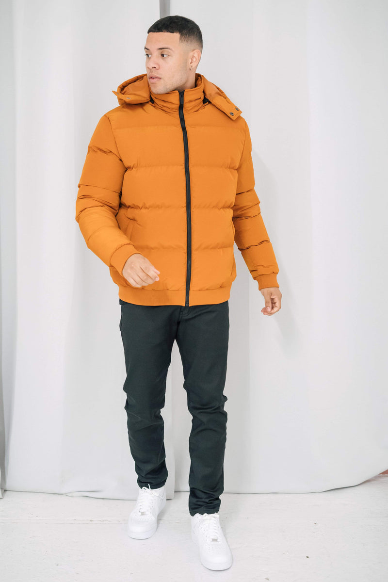 Criminal Damage JACKET Covent Nylon Puffer Jacket - Orange