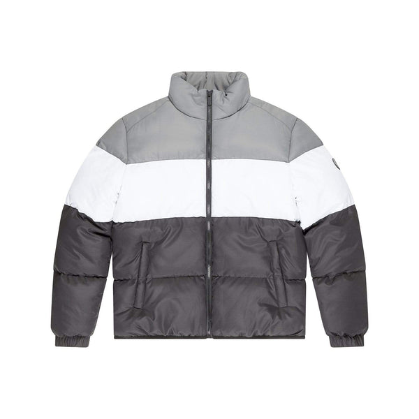 Criminal Damage JACKET Lyon Puffer Jacket- Black/White