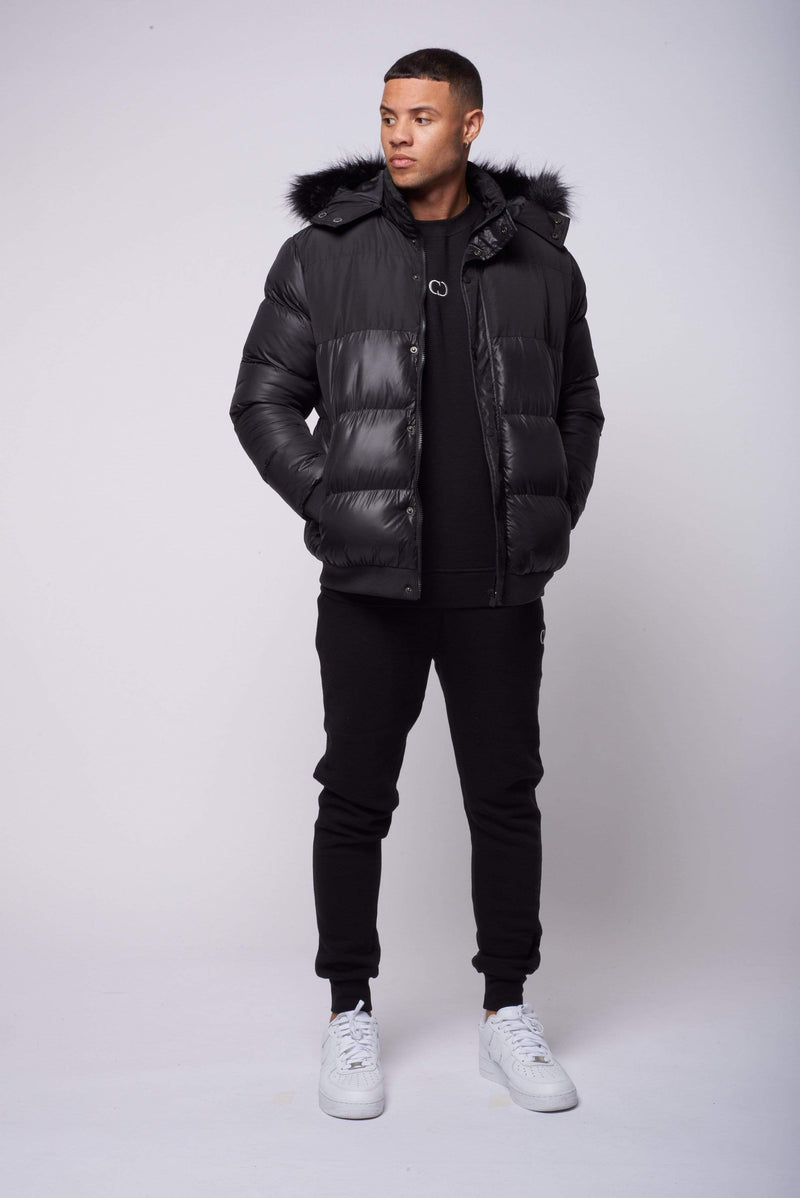 Criminal Damage JACKET Polar Puffer Jacket - Black