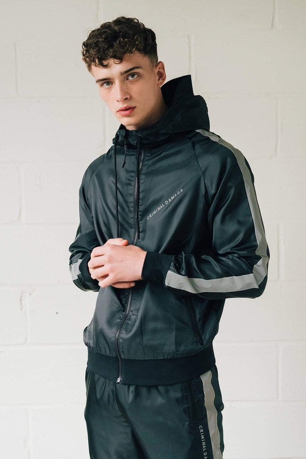Criminal Damage JACKET XS Fraser Windbreaker - Black