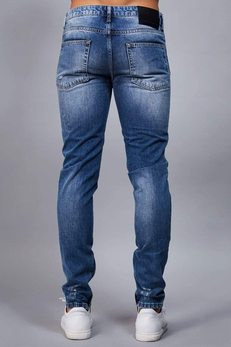 Criminal Damage JEANS Carter Jeans - Mid Blue