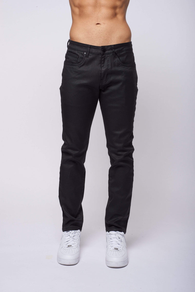 Criminal Damage JEANS Coated Slim Jean - Black