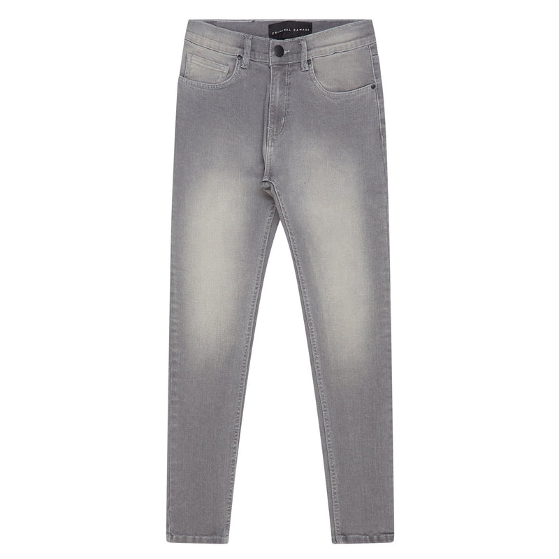 Criminal Damage JEANS Core Skinny Jeans - Grey Wash