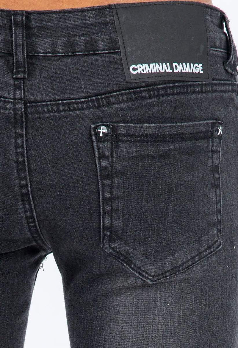 Criminal Damage JEANS Criminal Damage Jeans - Super Skinny Snow Grey