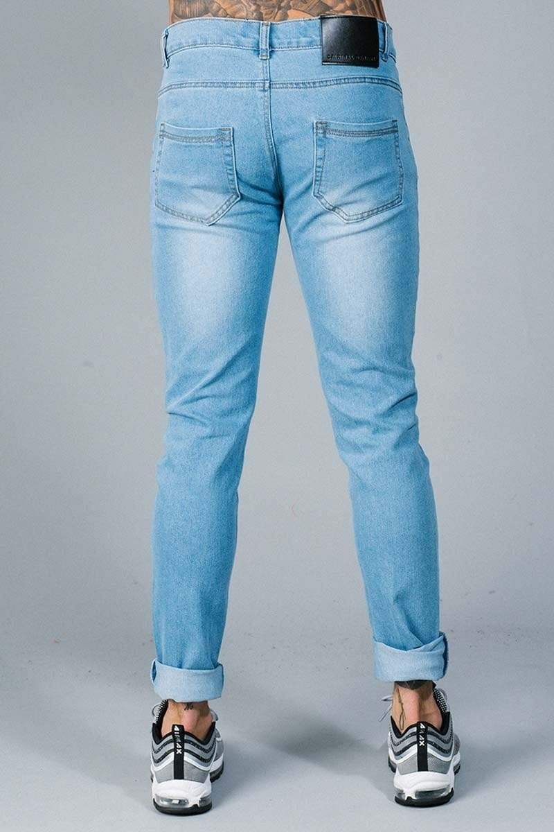 Criminal Damage JEANS Ripper Skinny Jeans - Light Wash